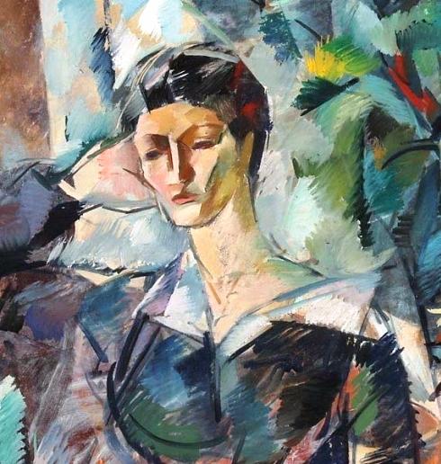 2 Портрет молодой женщины (Жена художника). 1914 (490x516, 306Kb)