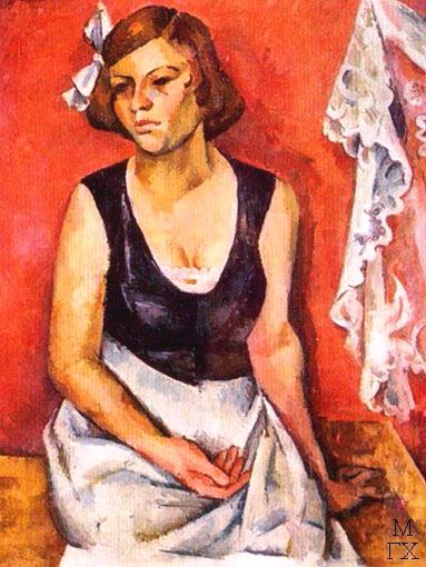 3 Портрет девушки (Женщина и кружево). 1921. (383x510, 229Kb)
