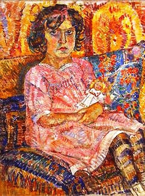 4 Девочка с куклой. 1913 (495x670, 467Kb)
