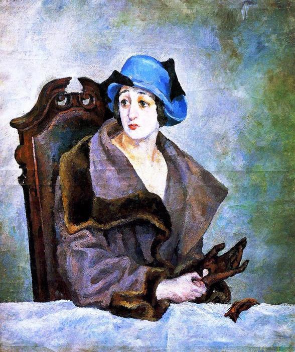 15 Александр Осмёркин «Женщина, снимающая перчатку 1924 (588x700, 602Kb)
