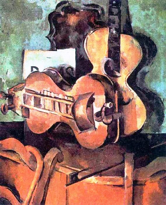 17 Александр Осмёркин «Натюрморт с бандурой» 1920 г. (569x700, 511Kb)