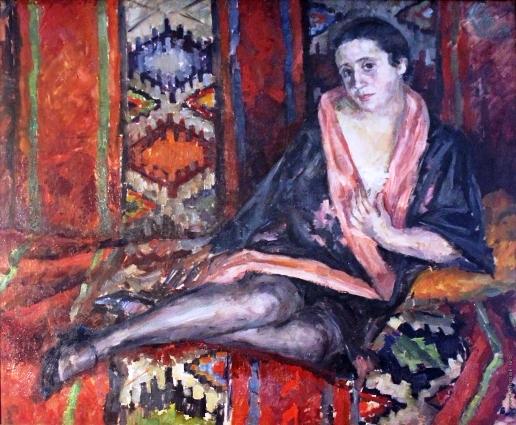 35 На диване. (Портрет Е.К. Гальпериной). 1929 (516x425, 291Kb)