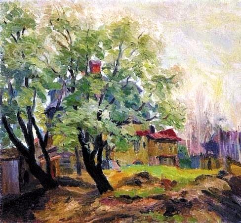 41 Сад летом. 1935 (488x451, 253Kb)