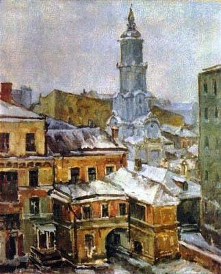 47 Александр Осмеркин. Меншикова башня, вид из окна. 1943-44. (323x400, 122Kb)