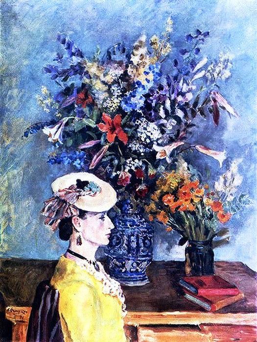 49 Александр Осмёркин «Профиль и цветы. (В мастерской художника)» (525x700, 566Kb)