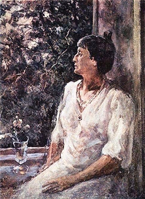 51 Портрет Анны Ахматовой. 1940-е (485x664, 341Kb)