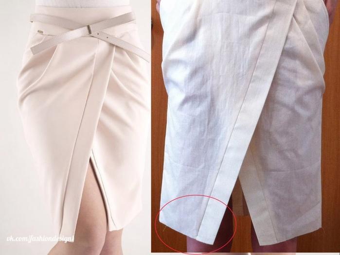 фото юбка с запахом выкройка
