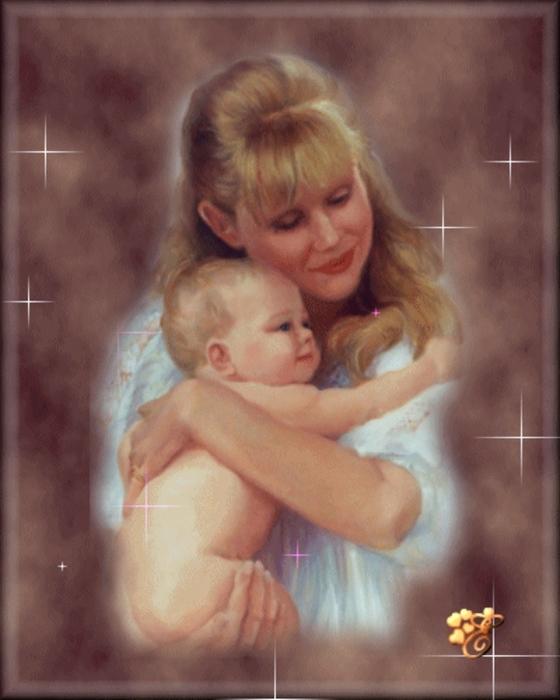 Мама с ребенком картинка с анимацией