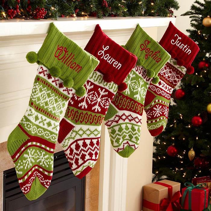 вяжем оригинальные рождественские носки обсуждение на Liveinternet