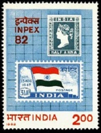 YtIN 748 Inpex 82- Postage stamp and flag (198x261, 36Kb)