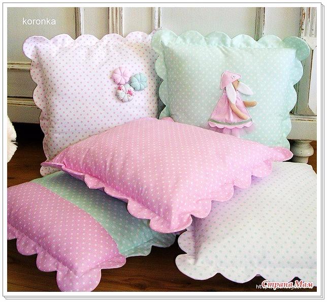 Пошив красивых подушек