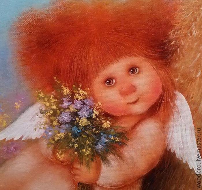 Открытка 4 года девочке ангелок