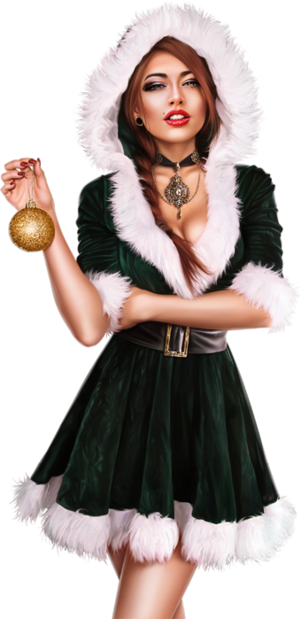 Christmas_Ball Girl (340x700, 287Kb)