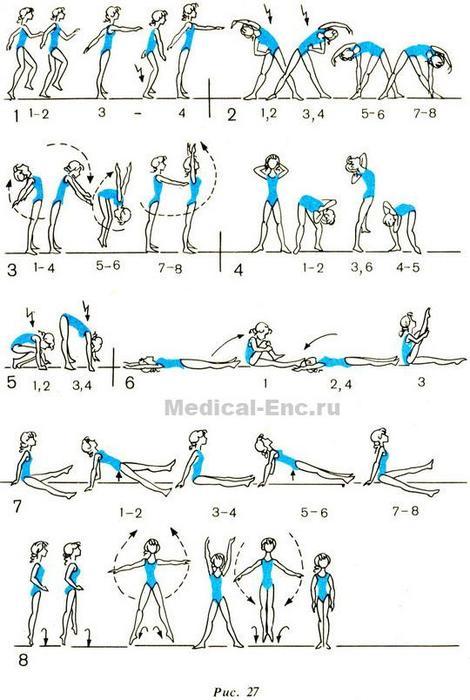 Комплекс упражнений для похудение