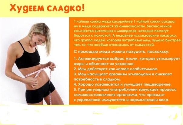 Поможет ли мед чтобы похудеть