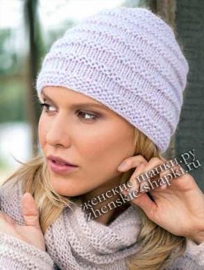 вязаные шапки спицами самое интересное в блогах