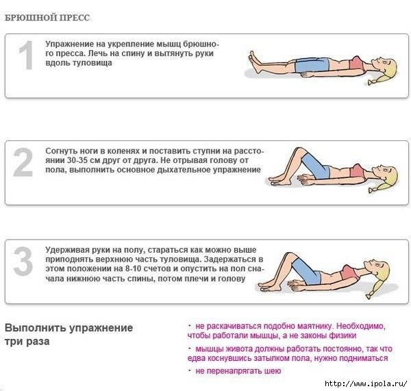 Упражнения для похудения живота дыхание