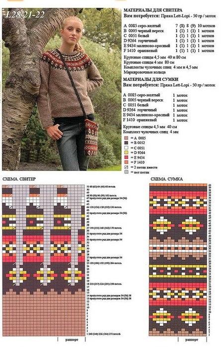 Вязание исландского свитера описанным ниже способом очень простое.