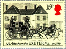 YtGB 1136,  Attack on Exeter Mail. 1816 (216x159, 27Kb)