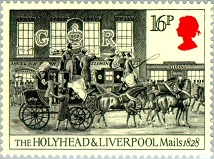 YtGB 1137    Holyhead and Liverpool Mails leaving London. 1828 (214x159, 27Kb)