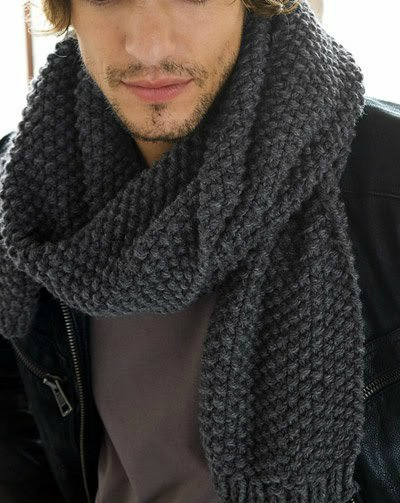 как связать спицами мужской шарф описание моделей актуальных в
