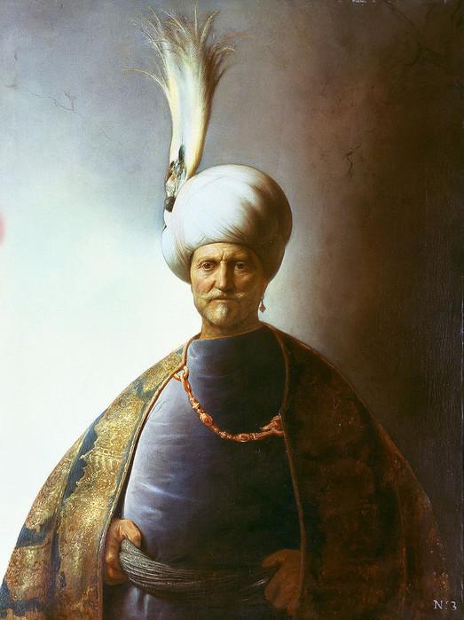 21 Султан Сулейман, 1625. очень напоминает Славянина Рембрандта. (523x700, 112Kb)