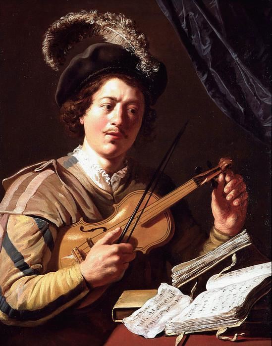 19 Скрипач, ок. 1625. Моделью, вероятно, послужил юный Рембрандт (549x700, 155Kb)