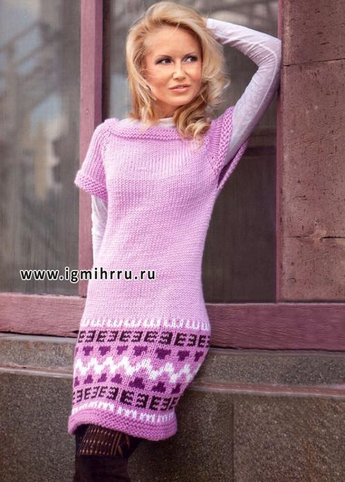 59eef71bd54 женский теплый сарафан спицами - Самое интересное в блогах