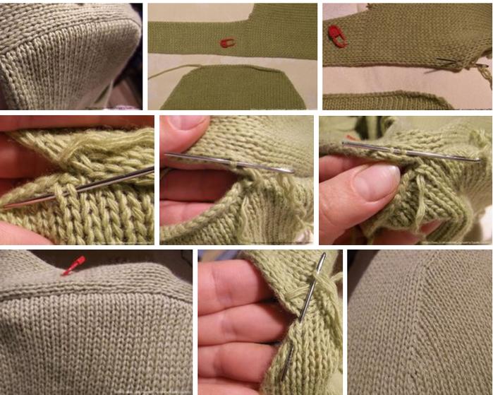 вяжемкак красиво вшить рукав в вязаном спицами изделии