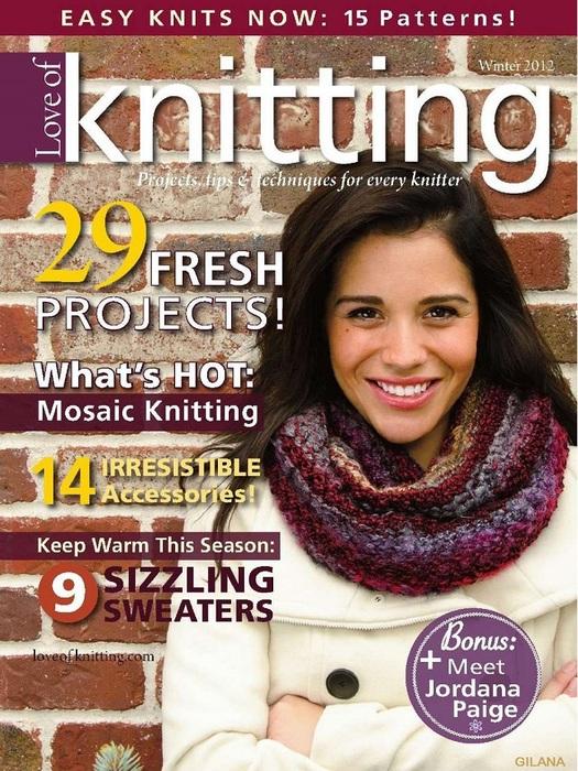 Love of Knitting — Winter 2012.