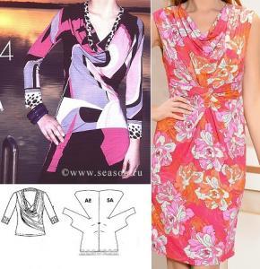 bd04a5d37c6 Моделирование платья. По центру переда драпировка и складка