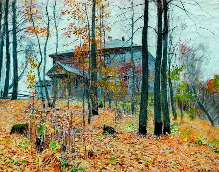 И.Левитан. Поздняя осень. Усадьба (700x550, 85Kb)