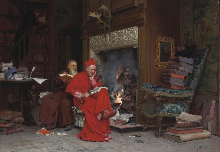 JEHAN GEORGES VIBERT THE COMMITTEE ON MORAL BOOKS (700x484, 385Kb)