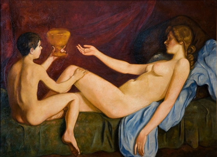 1922 Пробуждающаяся Венера. Х, м. (Восточно-Кахахстан. музей, г. Семее) (700x506, 125Kb)
