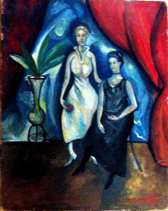 1922 Портрет. К, м. 30,5х22,9 см.   Russian Art Salon, NY (555x700, 162Kb)