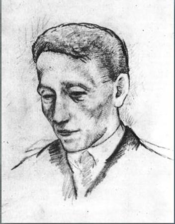 1920 Последний прижизненный портрет Александра Блока. Бум, кар. Гос. лит. музей, Москва. - копия (352x450, 105Kb)