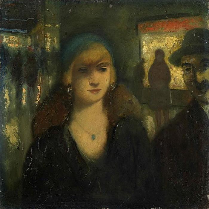 1930 Ночь в Берлине. Х, м. 50х50,5 см. Аукцион MacDougall's, 2010 г. (700x700, 146Kb)