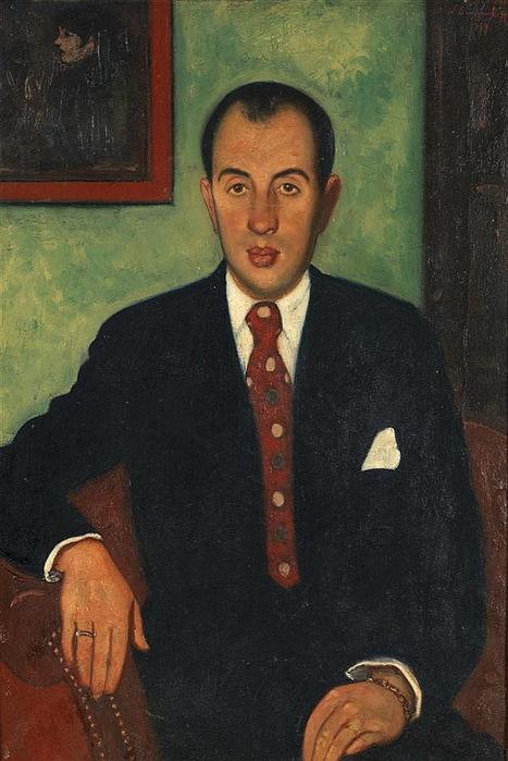 1934 Мужской портрет. Х, м. 69 x 47 см. ЧС (467x700, 108Kb)
