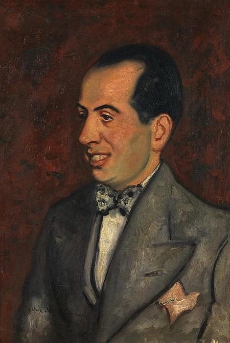 1935 Portrait de M. Simanpart (Портрет г-на Симанпа). Х, м. 50 x 35 см. ЧС (470x700, 108Kb)