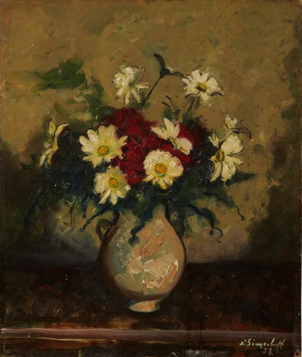 1938 Bouquet. К, м. 45x38 см. ЧС (592x700, 364Kb)
