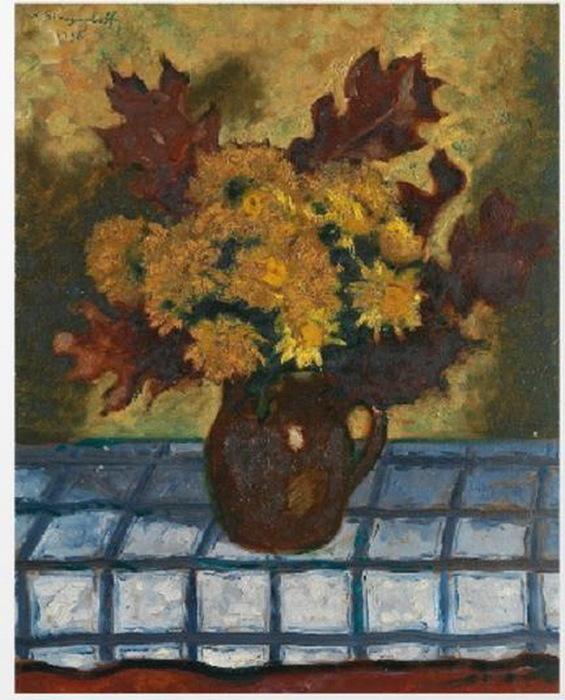 1938 Натюрморт с осенними листьями (565x700, 126Kb)