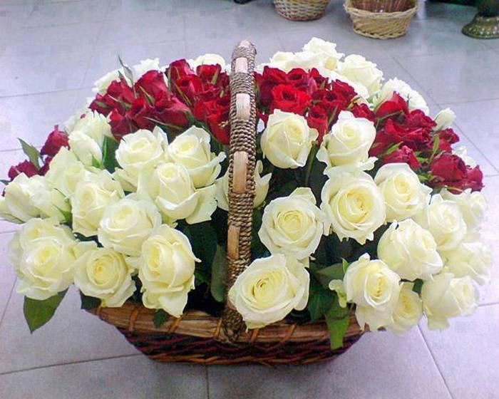 Букет цветов открытка для тебя, днем