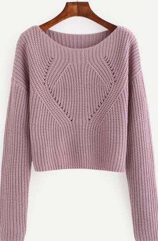 пуловер английской резинкой с фасонными линиями тренд сезона