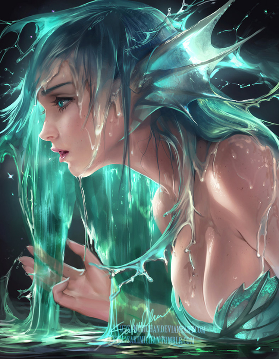 water_siren_by_sakimichan-dada714 (543x700, 467Kb)