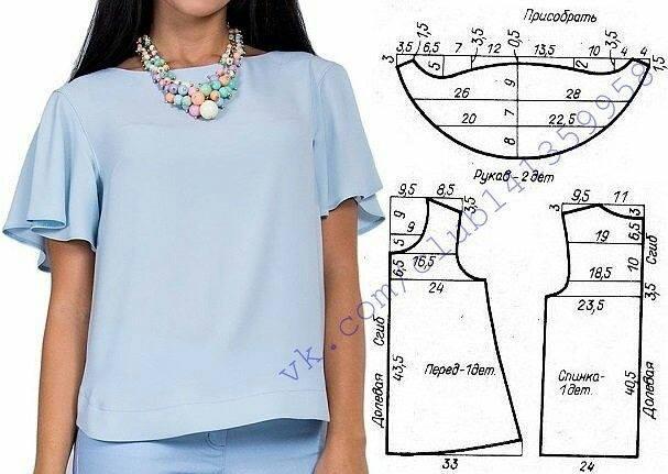 2f0d200f0dc выкройка блузки - Самое интересное в блогах