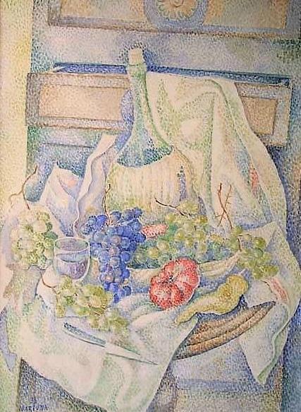 Still Life with Bottle and Fruit (427x583, 276Kb)