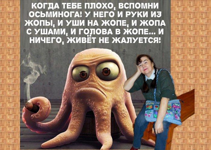 Картинки тебе грустно вспомни осьминога