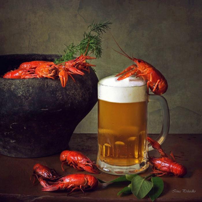 Картинки пиво с раками и рыбой, картинки добрым утром