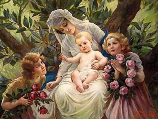 A Floral Tribute To A Mother And Child (550x417, 201Kb)