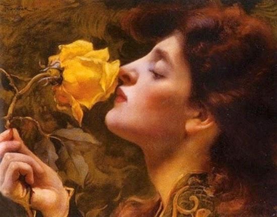 Franz Dvorak, Lady of the Roses (1901) (550x430, 165Kb)